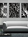 Blommig/Botanisk Inramad duk / Inramat set Wall Art,PVC Vit Ingen passepartout med Frame Wall Art