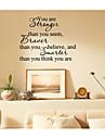 jiubai ™ är du starkare inspiration ordet konst heminredning vägg klistermärke väggdekal