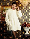 Thick Long Sleeve Hooded Faux Fur Coat(More Colors)