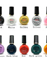 Professional Printing/Stamping Nail Polish Suits Random Colors(10ml)