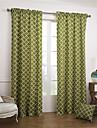 modernes deux panneaux geometrique chambre verte rideaux a panneaux de coton rideaux
