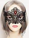 Mascara Cosplay Festival/Celebracion Traje de Halloween Rojo / Negro Un Color / Encaje Mascara Halloween / Carnaval UnisexEncaje / Gemas