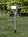 1-LED Whte Solar rostfritt stål trädgård ljus spik monterad lampa