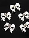 10pcs mignon blanc diamant de bowknot alliage 3d nail art decoration