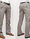 Fxfs Solid de culoare drepte de bumbac pantaloni casual lungi