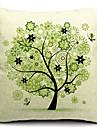 vackra våren träd bomull / linne dekorativa örngott