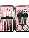 8st Nail Clippers Manikyr Kit Inom Giltter Star Design Rosa manikyr Bag