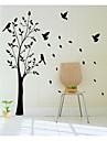 jiubai ™ stort träd och fåglar vägg klistermärke väggdekal, 165cm höjd