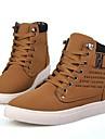 Mocka Män s Flat Heel Round Toe Fashion Sneakers Med snörskor (fler färger)