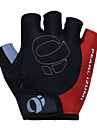 KORAMAN Men\'s Cycling Gloves Fingerless Black&Red Nylon Bike Bicycle Half Finger Cycling Gloves