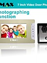 "TMAX® 7"" LCD Photographing Video Door Phone Doorbell Home Entry Intercom with 500TVL Night Vision Camera"