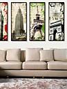 Architecture Toile Encadree / Set de Cadres Wall Art,PVC Noir Sans Passepartout Avec Cadre Wall Art
