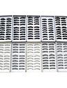 100st 10 blandade stilar naturliga handgjorda svarta förlängning tjockare fiber lösögonfransar