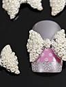 10pcs 3d perle art accessoires en alliage de noeud papillon de decoration des ongles