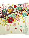 uggla familj bomull / linne dekorativa örngott