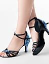 Verbazingwekkende Rhinestone satijn bovenste latin dans schoenen Sandalen (meer kleuren)