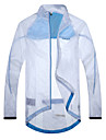 SANTIC Men\'s Cycling Jacket/Rain Jacket Anti UV Waterproof Ultralight Outdoor Wind Coat(White)