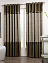 Neoclassical Two Panels Solid Floral Botanical Brown Grey Living Room Curtains Drapes