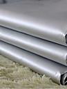 deux panneaux classiques PVC gris solide rideaux de doublure de rideau opaques