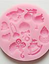 3d björn fötter bebis leksak silikon choklad mögel fondant sockerhantverks formar