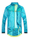 SANTIC Men\'s Cycling Rain Jacket/Waterproof jacket Blue Outdoor Anti UV Ultralight Breathable