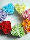 6 romantisk hjärtformad rosen tvål blommor (slumpmässig färg)