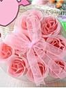 9 romantisk hjärtformad rosen tvål blommor (slumpvis färg)