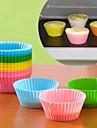 couleurs de bonbons moules a gateaux en silicone de cuisson 6pcs (couleur assorties)