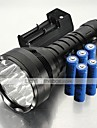 LT-BG T6 Waterproof 5-Mode 12xCree XML-T6 LED Flashlight(15000LM,6x 18650,Black)