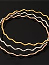 plaque or 18k bracelet simples platine U7 femmes 3 couleurs 3pcs bracelet 68mm