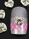 10st 3d strass hjärta fingertoppar smycken tillbehör nagel konst dekoration