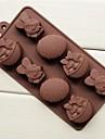 coșul easter bunny de matrite de ciocolata ouă forma de tort de gheață jeleu, silicon 20,8 × 10,5 × 2,8 cm (8,2 × 4,1 × 1,1 inch)