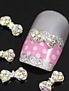 10pcs Colore strass arc alliage de cravate Accessoires ongles nail art decoration