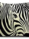 1 pcs Coton/Lin Housse de coussin,Imprime animal Rustique
