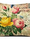 flower art bomull / linne dekorativa örngott