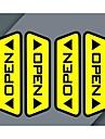 mycket bildörr öppen reflekterande dekaler varnings accord fotgängare säkerhetskörning effekt varje bil nödvändigt val (4st)