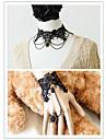 Bijoux Gothique Lolita Lolita Noir Lolita Accessoires Collier / Bracelet/Bracelet Colore Lace Pour Hommes / Femme Dentelle
