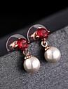 Women's Fashion Simple Color Treasure Multicolor Elegant Shell Pearl Earrings