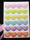 varmprägling hjärtmönster 6 färger diy foto hörnskydd sticker (24 klistermärken / st)