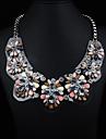JQ smycken kvinnors akryl ombord ädelsten halsband