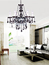 6 Lights,European Crystal Chandelier In Grey Color,Glass & Crystal