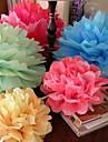 20 tums papper blomma festdekorationer - set om 4 (fler färger)