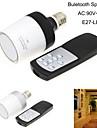 haut-parleur sans fil Bluetooth e27 4w 90v ~ 260V 6000k lumiere blanche naturelle conduit lampe boule de musique de l\'ampoule avec telecommande