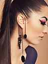 Lala kvinnors vintage uttalande strängar lång tofs icke genomborrat hängande enstaka örhängen