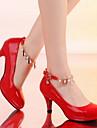 Scarpe Donna - Scarpe col tacco - Casual - Punta arrotondata - A stiletto - Finta pelle - Nero / Rosa / Rosso / Beige