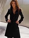 revers cou tweed manteau de Yiluo femmes