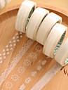 transparent spets dekorativa scrapbooking lim band (10m slumpmässigt mönster 1 st)
