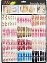 500 naturliga färg halv falska akryl nail art tips (50pcsx10 storlekar blandad)