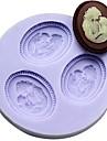 mere et le fils fondant gateau au chocolat argile de resine de moulage des bonbons de silicone, L6M * w6cm * h1cm