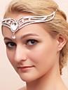 Femei Fata cu Flori Aliaj Zirconiu Cubic Diadema-Nuntă Ocazie specială Tiare